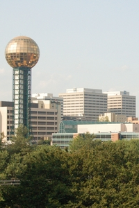 Downtown Knoxville, TN, from the University.