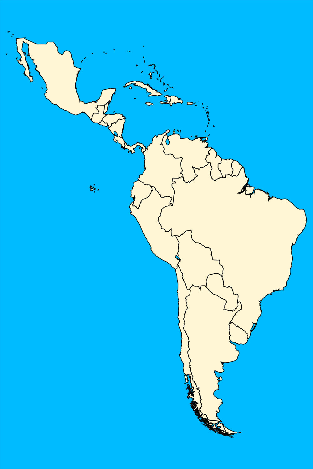 South America Map Quiz Game
