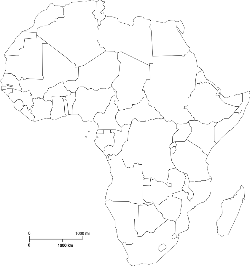 Map Of Africa Fill In The Blank.Top 10 Punto Medio Noticias South Africa Map Outline Printable